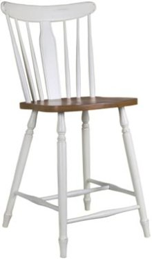 Bridgeport Stool Alabaster & Espresso