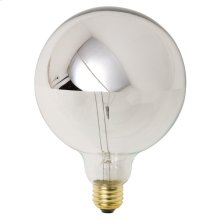 G125 25w E26 Light Bulb  Silver