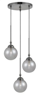 40W x 3 Prato metal/glass 3 lights chandelier Product Image