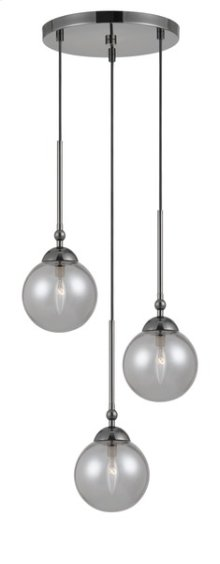 40W x 3 Prato metal/glass 3 lights chandelier