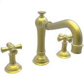 Satin-Brass-PVD Widespread Lavatory Faucet