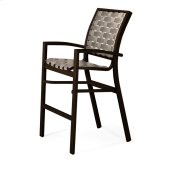 Kendall Contract Cross Strap Bar Height Stacking Cafe Chair