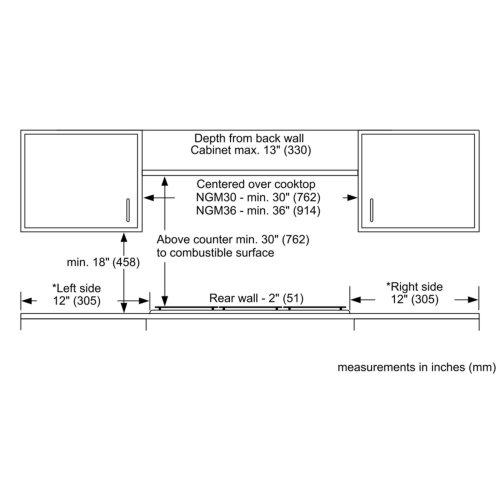 Benchmark® gas hob 36'' NGMP656UC