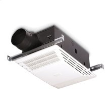Heater/Fan, White Plastic Grille, 70 CFM; same as Model 655 but does not include light