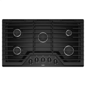 WHIRLPOOLWhirlpool(R) 36-inch Gas Cooktop with EZ-2-Lift(TM) Hinged Cast-Iron Grates - Black