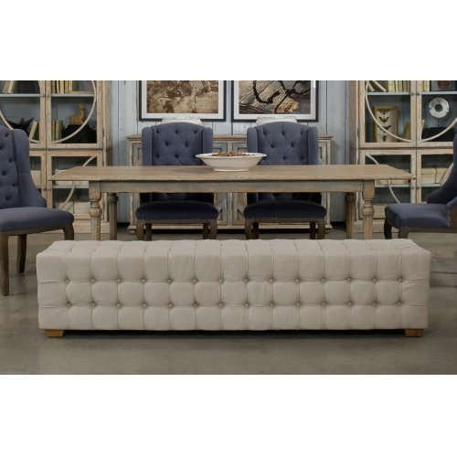Long Tufted Bench