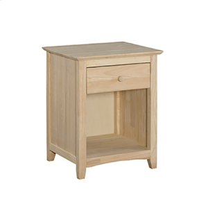 WHITEWOOD INDUSTRIESBD-7001 Lancaster 1-Drawer Nightstand with Solid wood panel sides & full extension drawer glides