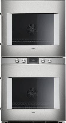"""400 double oven BX 480 611 Stainless steel-backed full glass door Width 30"""" (76 cm) Right-hinged"""