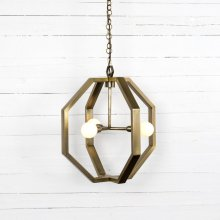 Antique Brass Finish Cooper Chandelier