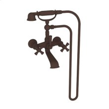 Oil Rubbed Bronze Exposed Tub & Hand Shower Set - Wall Mount