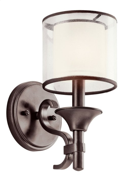 Lacey 1 Light Wall Sconce Mission Bronze