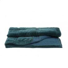 Blanket 180x130 cm THROW velvet petrol