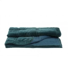 Blanket 180x130 cm THROW velvet petrol