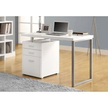 "COMPUTER DESK - 48""L / WHITE LEFT OR RIGHT FACING"