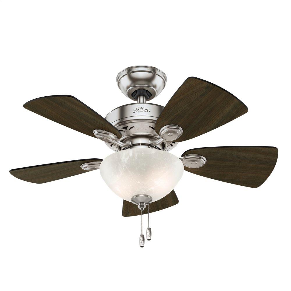 Watson with Light 34 inch Ceiling Fan  BRUSHED NICKEL