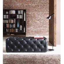 Divani Casa Maria Modern Black Eco-Leather Bench w/ Crystals
