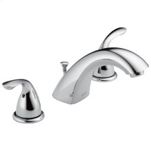 Chrome Two Handle Widespread Lavatory Faucet