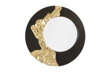 Mercury Mirror, Black, Gold Leaf