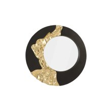 Mercury Mirror, Black, Gold Leaf
