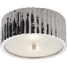 Visual Comfort AH4004PN-FG Alexa Hampton Frank 2 Light 11 inch Polished Nickel Flush Mount Ceiling Light