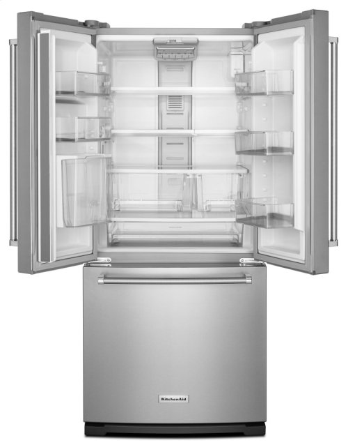 20 cu. Ft. 30-Inch Width Standard Depth French Door Refrigerator with Interior Dispense - Stainless Steel