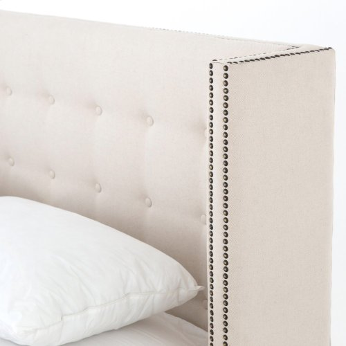 "King Size 48"" Headboard Height Jefferson Bed - Snow Cream"