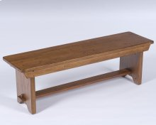 Attic Heirlooms Bench, Natural Oak Stain