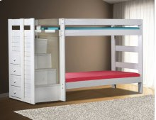 Twin/Twin Staircase Bunk Bed w/Staircase Drawers