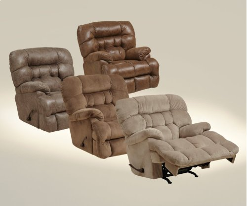 Chaise Rocker Recl w/Heat & Massage - Mocha