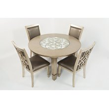 Casa Bella Round Dining Table- Vintage Silver