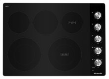 "30"" Electric Cooktop with 5 Elements and Knob Controls - Stainless Steel"