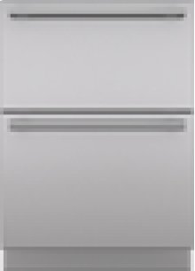 """Integrated Stainless Steel 24"""" Drawer Panels with Tubular Handles"""