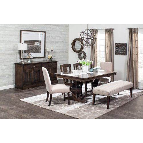 """Crawford Double Pedestal Table, Crawford 48""""x60"""" Double Pedestal Table, Solid Top"""