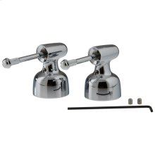 Chrome Metal Lever Handle Set - Less Accents