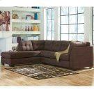 Benchcraft Maier Sectional with Left Side Facing Chaise in Walnut Microfiber [FBC-2349LFSEC-WAL-GG] Product Image