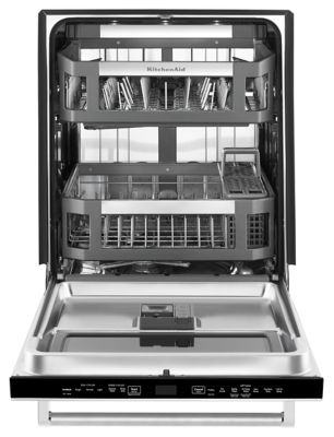Captivating 44 DBA Dishwasher With Window And Lighted Interior Stainless  Steel