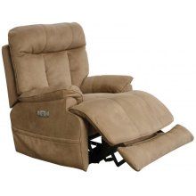 Power Headrest Power Lay Flat Recliner w/ Extended Ottoman