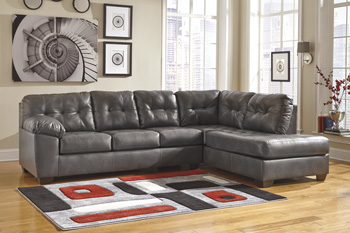 Alliston Gray Sectional (Right Side Chaise)