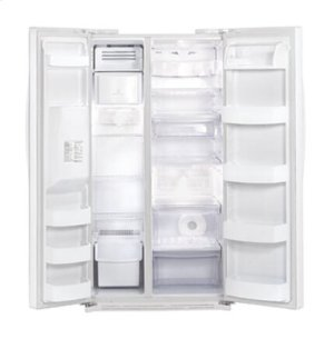 Side-By-Side Refrigerator with Ice and Water Dispenser (26.5 cu.ft.; Smooth White)