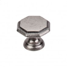 Devon Knob 1 1/4 Inch - Pewter Antique