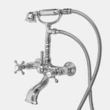 Butler Mill Wall-Mount Telephone Tub Filler with St. Michel Handle
