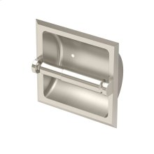 Recessed Tissue Holder in Satin Nickel