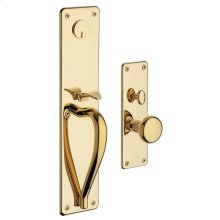 Lifetime Polished Brass Trenton Entrance Trim