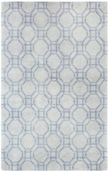 Ring Grey Hand Knotted Rugs
