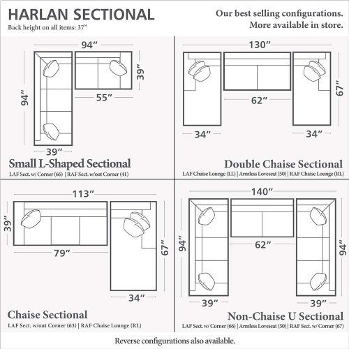 Harlan Small L-Shaped Sectional