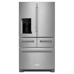 KitchenAid25.8 Cu. Ft. 36-Inch Multi-Door Freestanding Refrigerator - Stainless Steel