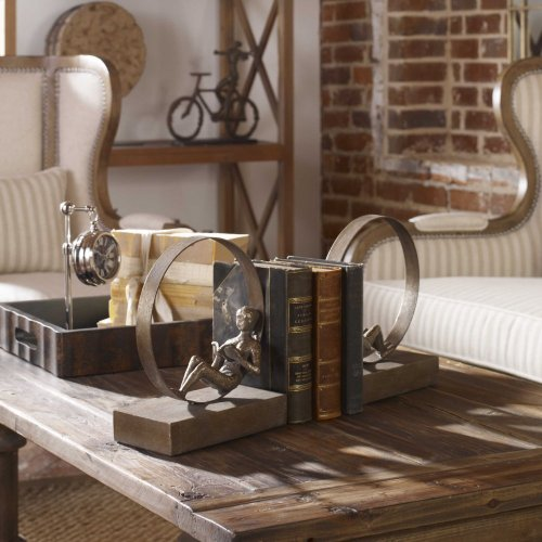 Lounging Reader, Bookends, S/2