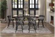 Swivel Pub Height Chair, Gray Product Image
