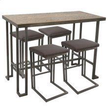 Roman Counter Set - Antique Metal, Bamboo