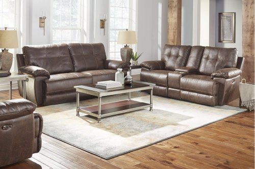 STANDARD 4147591 Hollister Brown Power Reclining Sofa